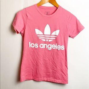 Adidas Los Angeles Tee Pink Size Medium